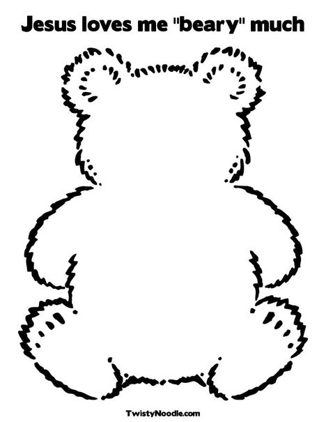 jesus loves me beary much coloring page from twistynoodlecom