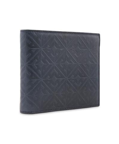 Hardy Amies embossed monogram leather card holder in navy. Italian leather & made in Italy.  #Dapper #Gentleman #Men #Menswear #BritishTailoring #Suit #SlimFit #Shirt #Tailored #Vintage #Class #Streetstyle #Classic #Classy #HardyAmies #LondonStyle #ModernMan