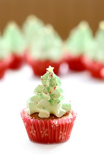 no recipe but a cute idea to do myself, just have to come up with a good and christmasy flavour mix. thoughts on gingerbread cupcake and some yumskers frosting