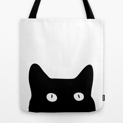 Black Cat by Good Sense | 10 Unique Tote Bags Designed by Artists