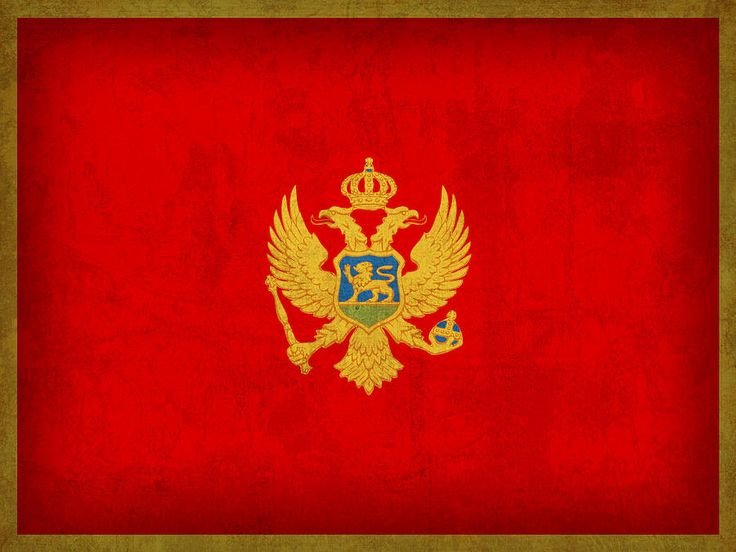 Montenegro Flag Vintage Distressed Finish Mixed Media