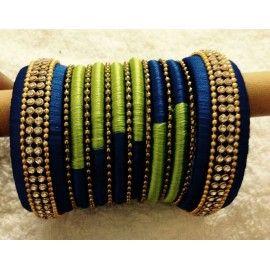 Bangle set made of silk