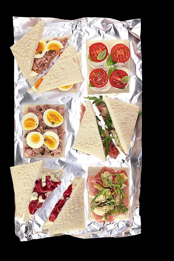 Italiaanse versie van de clubsandwich in het klein.