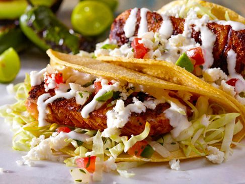 34 best recipes by chef aaron sanchez images on pinterest cacique grilled fish tacos with tequila lime crema cacique usa mexican food recipesmexican forumfinder Image collections