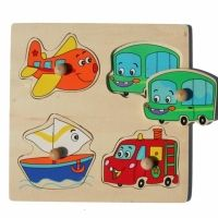 Knopp-pussel - fordon i gruppen - Pussel & spel hos Blå Elefant - Blaue Elefant (aml-85232)