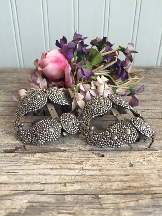 Antique French Cut Steel Shoe Clips