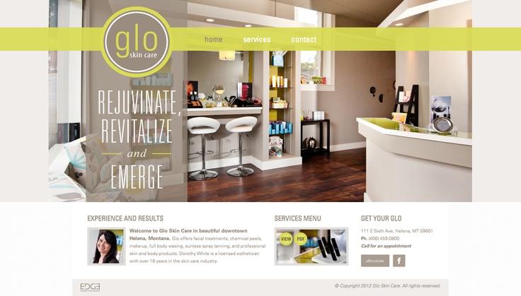 clean & beautiful salon web design