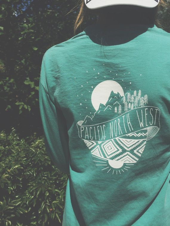 PNW Vintage long-sleeve Pocket Tee by Reprose on Etsy