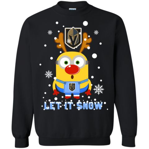 Minion Vegas Golden Knights Ugly Christmas Sweaters Let It Snow Hoodies Sweatshirts