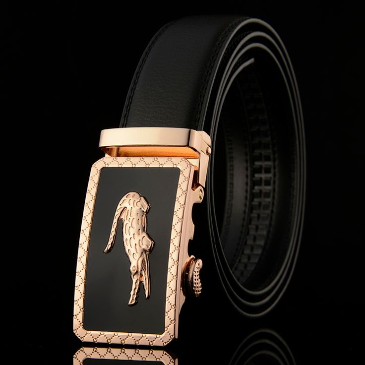 New Designer Automatic Buckle Leather men belt famous brand Luxury belts for men