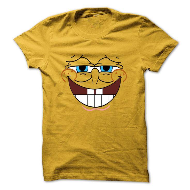 Cool Spongebob Face Art Yellow tshirt T-Shirts, Hoodies. ADD TO CART ==►…