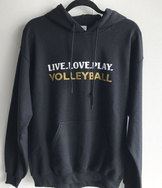 Volleyball Hooded Sweatshirt Live.Love.Play. by trendsettersvolley