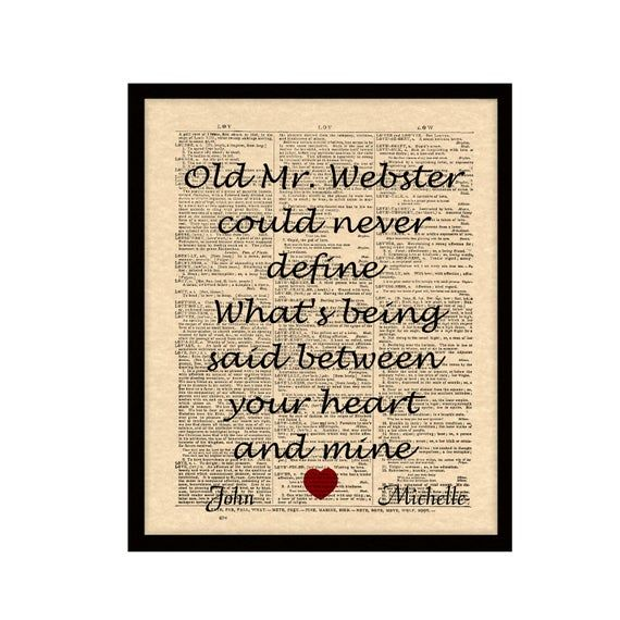 When You Say Nothing At All Song Lyric Art Print Vintage
