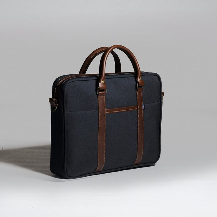 The Forge Briefcase in navy by Mother Co. Made in Canada  - $179