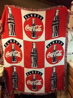 Coca Cola Blanket Throw Always Coca Cola Coke Blanket 55 L x 42 W   eBay
