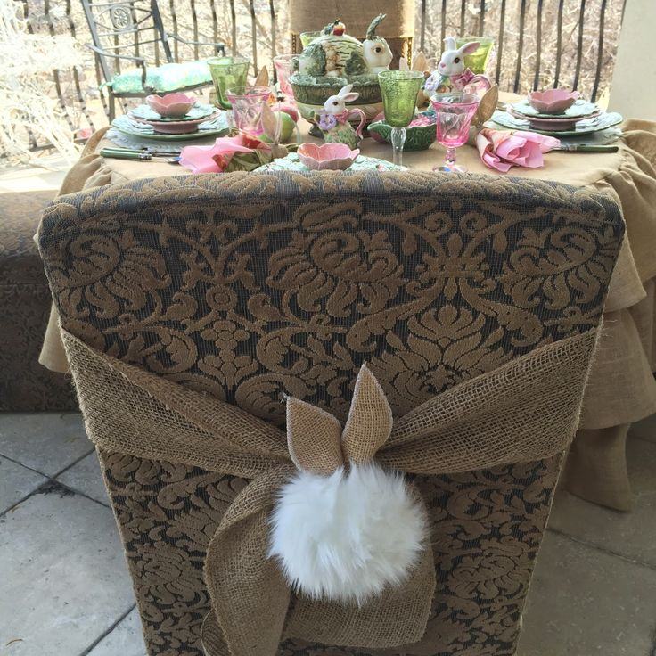 It's been a busy week here at Purple Chocolat Home sewing and crafting for Easter and this ruffled round burlap tablecloth is ...
