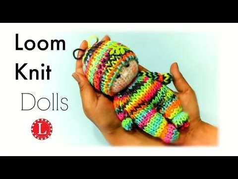 LOOM KNITTING Toy Tiny Kitty Cat on Small Circle Looms Pattern Amigurumi Project - YouTube