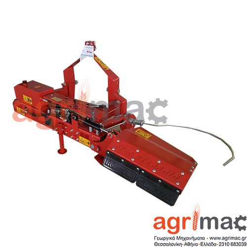 Φρέζα πλαϊνή μετατοπιζόμενη για τρακτερ. Η φρέζα διαθέτει περιστρεφόμενο άξονα, μηχανική μετάδοση, κιβώτιο ταχυτήτων COMER Ιταλικό. Πλάτος εργασίας: 700 mm Αριθμός μαχαιριών: 33 τεμάχια PTO: 540 rpm Βάθος εργασίας: 0,15-0,20 m Βάρος: 230 kg Συνιστώμενη ισχύς: από 15 hp