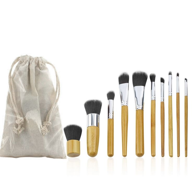 7.80$  Watch here - http://aliqrj.shopchina.info/go.php?t=32698808438 - 10 PCS Professional Pro Cosmetic Brush set Bamboo Handle Synthetic Makeup Brushes Kit make up brushes set tools  #shopstyle