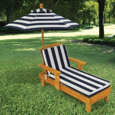Sedia per esterni con ombrello