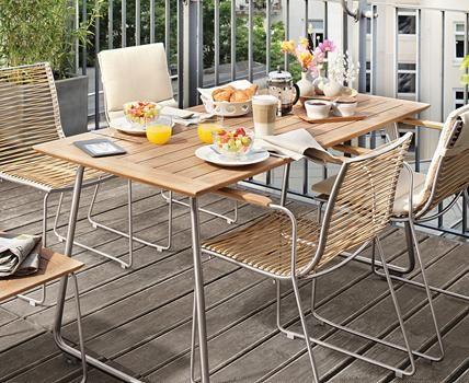 Terrassenmöbel holz metall  15 besten Gartenmöbel Aus Metall Bilder auf Pinterest | Entwurf ...