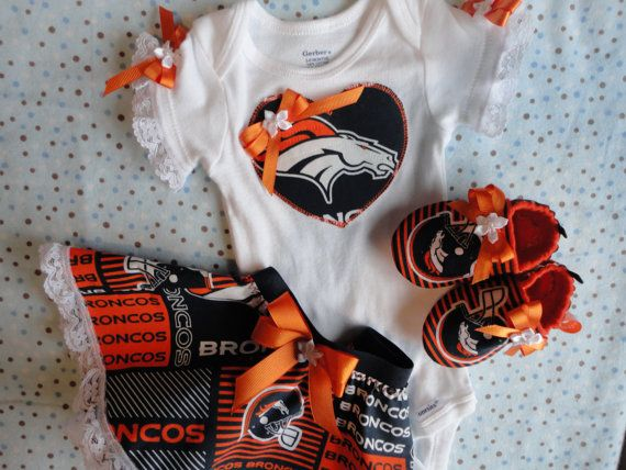 NFL Denver Broncos Tailgating Outfit Baby by doodlesbabylicious