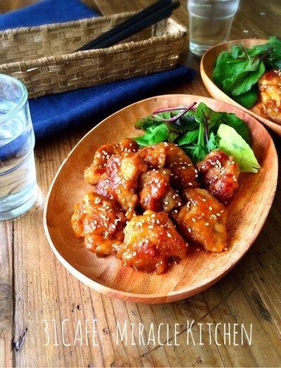 ♡フライパンde超簡単♡鶏のはちみつ味噌照り焼き♡【鶏もも肉*簡単 ...