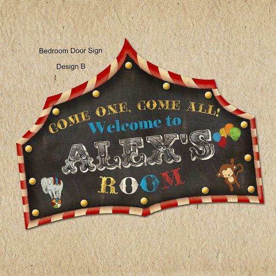 Circus Birthday Bedroom or Playroom Sign  by LilMonkeysDesigns, $50.00