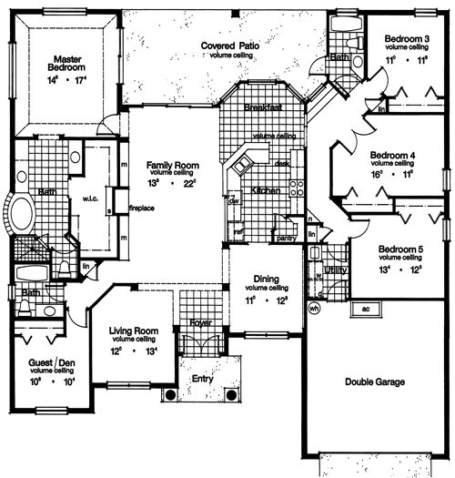 mcintosh 4082 5 bedrooms and 35 baths the house designers - Mcintosh House Plans