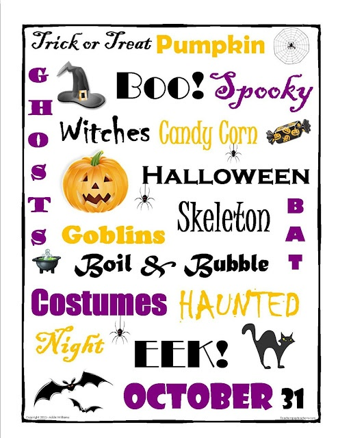 halloween writing prompt for middle school