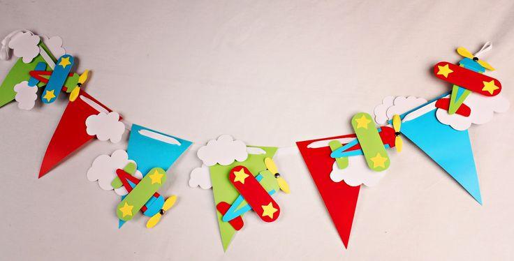 Decoración para cumpleaños: Guirnalda de aviones
