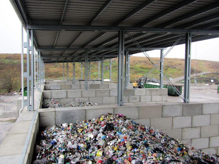 Överbyggda materialfickor SRV Återvinning Huddinge.   www.c3c.se