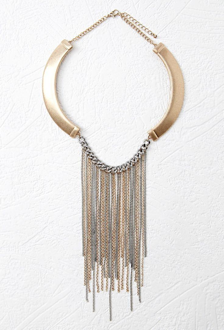 Collier à Frange - accessoires, bijoux et sacs pour Femmes| voir en ligne | Forever 21 - Bijoux - Colliers - 1000053015 - Forever 21 EU