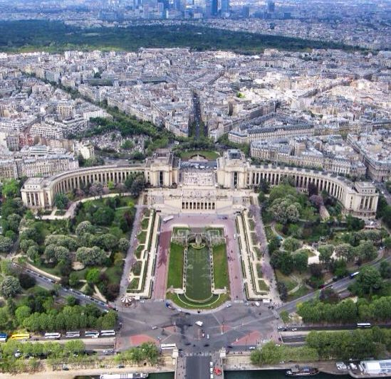 A view from the top of Eiffel Tower, Paris, France