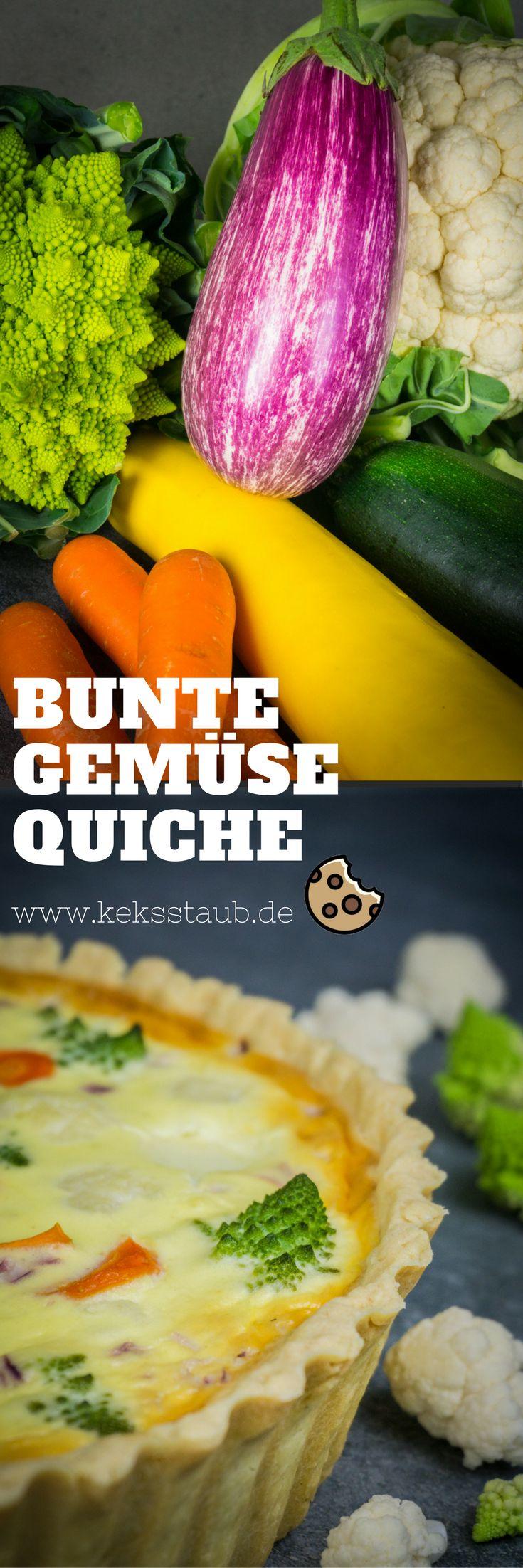 Rezept zum Backen bzw. Kochen einer leckeren kunterbunten Gemüse Quiche  #Quiche #Rezept #Kochen