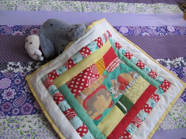 Toy's patchwork blanket.  Baby seal is very happy! :-)