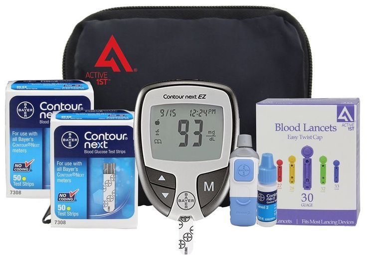 OWell Bayer Contour Complete Diabetes Blood Glucose Testing Kit, METER, 100 T... #Active1st