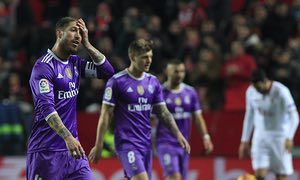 Real Madrid were set to extend their unbeaten run to 41 matches until a late own goal, against his old club, by Sergio Ramos and Stevan Jovetic's winner stunned Zinedine Zidane's side