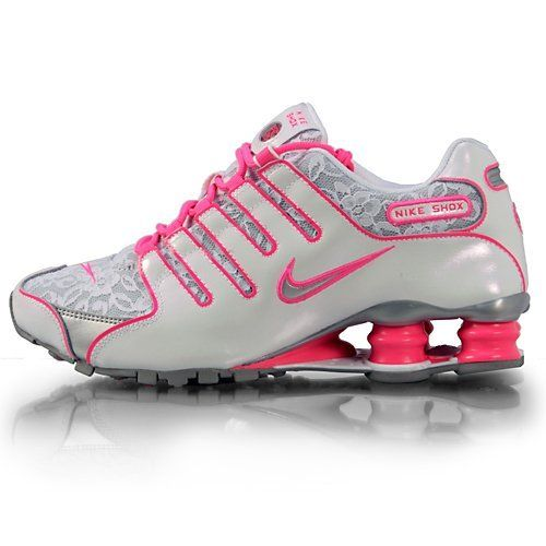 Women Nike Shox NZ White / Metallic Silver / Pink Flesh LACE 311137 I dont  pin shoes but I love these!