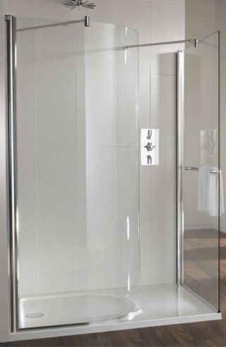 Twyford Hydr8 Walk In Curved Panel Left Or Right Hand And Shower Tray