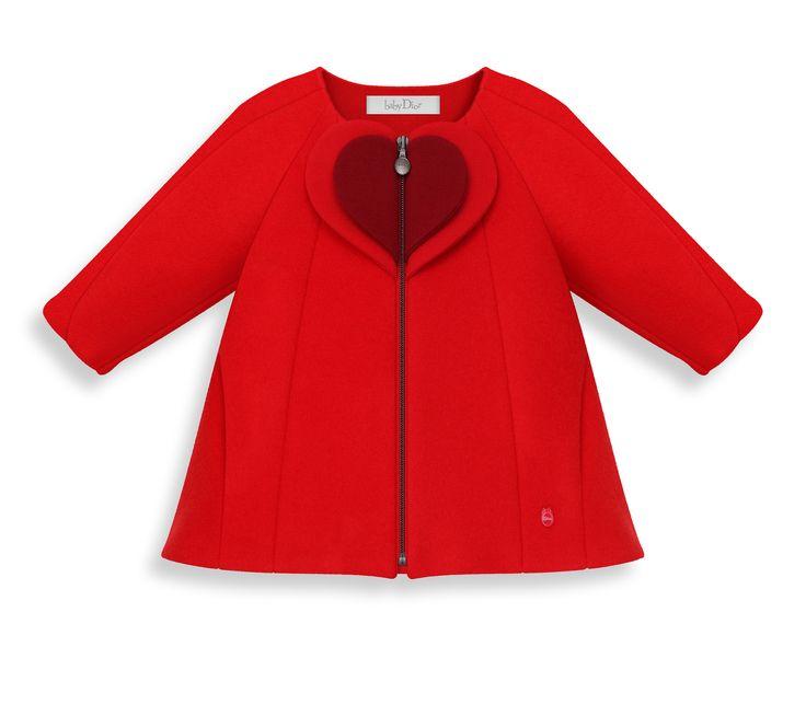Manteau en laine cachemire empiecement cœur -  Dior