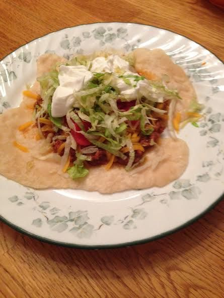 Our easy and absolutely delicious Cherokee Indian Taco recipe. Enjoy an Indian Taco, and learn some important Native American history too!