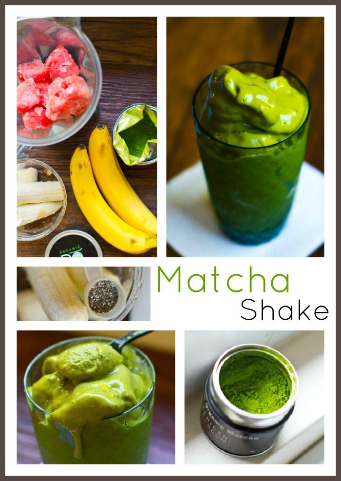 Matcha Smoothie 2.0 - Healthy. Happy. Life.: Smoothie 2 0, Matcha Green Teas Smoothie, Matcha Shakes, Bananas, Smoothie 20, Matcha Smoothie, Green Smoothie, Healthy Happy Life, Almonds Milk