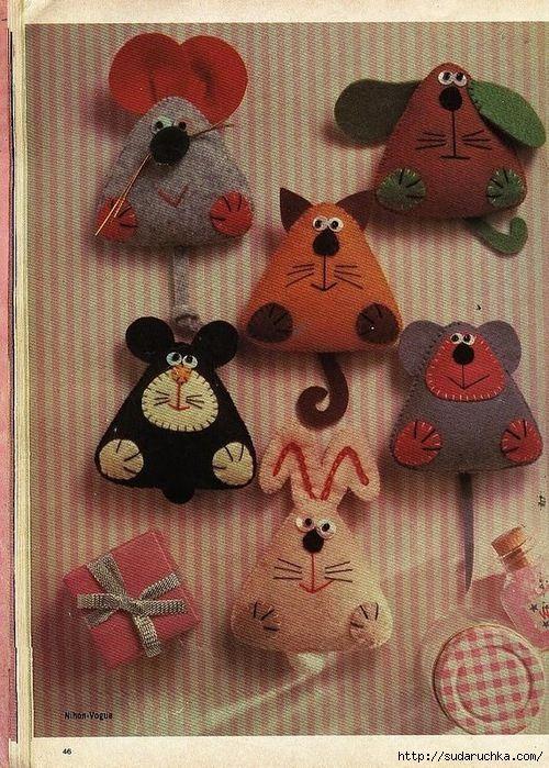 Фетровые маленькие игрушки-сувениры.. Обсуждение на LiveInternet - Российский Сервис Онлайн-Дневников