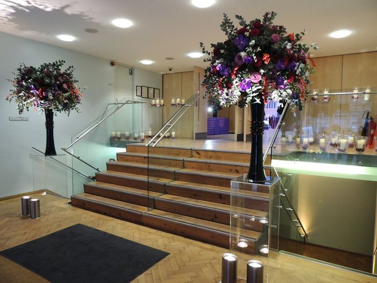 Beautiful flowers in the Lindley Hall foyer