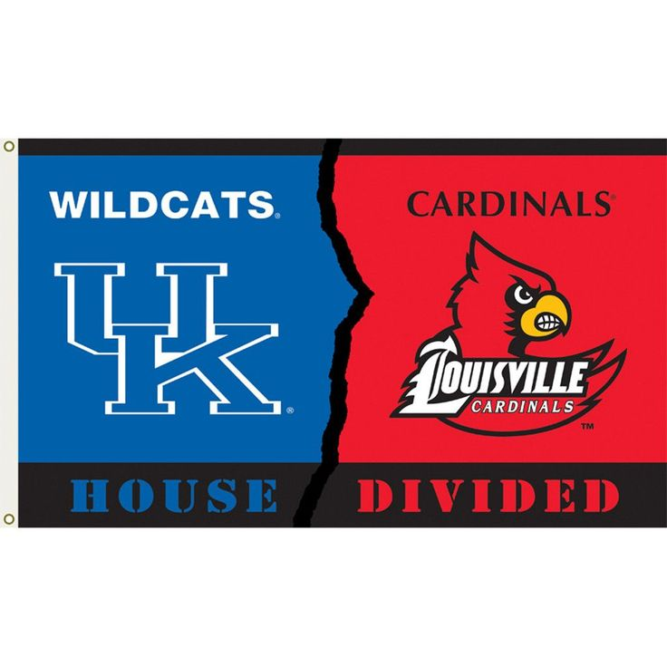 Kentucky Wildcats-Louisville Cardinals House Divided Flag
