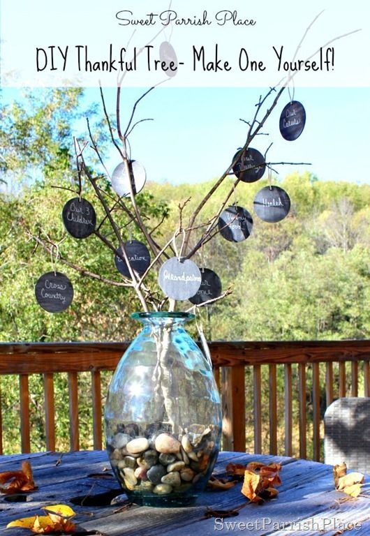 DIY Thankful Tree- A great craft idea to make for the whole family for Thanksgiving!: