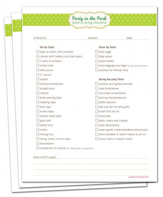 Best Party Checklists Images On   Kitchens Party
