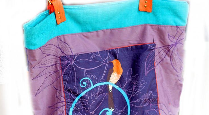 bag HOLA! embroidered, aplicated, key holder 1200