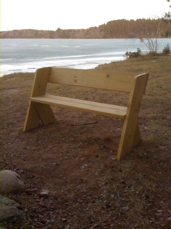 Dad's Bench PLAN, Outdoor bench, Wood Bench, Aldo Leopold Bench, Park Bench Cabin Lake Bench.  Plan.  Not the physical Bench. by dustyrhoades on Etsy